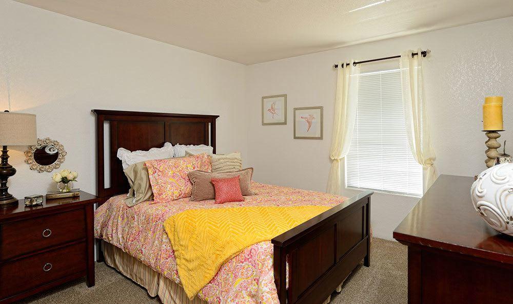 Bedroom at apartments in El Paso