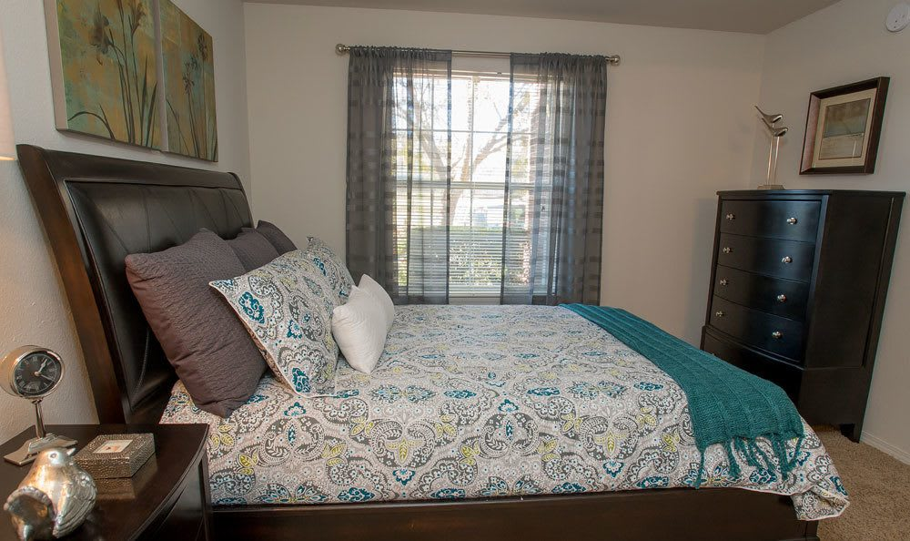Comfortable bedroom at Crown Pointe