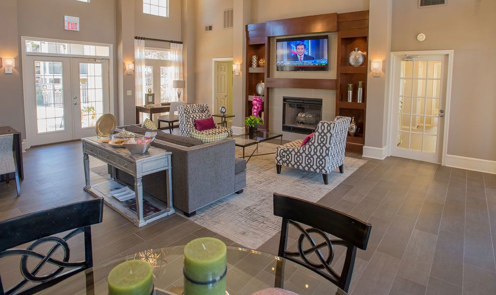 Spacious clubhouse at Crown Pointe