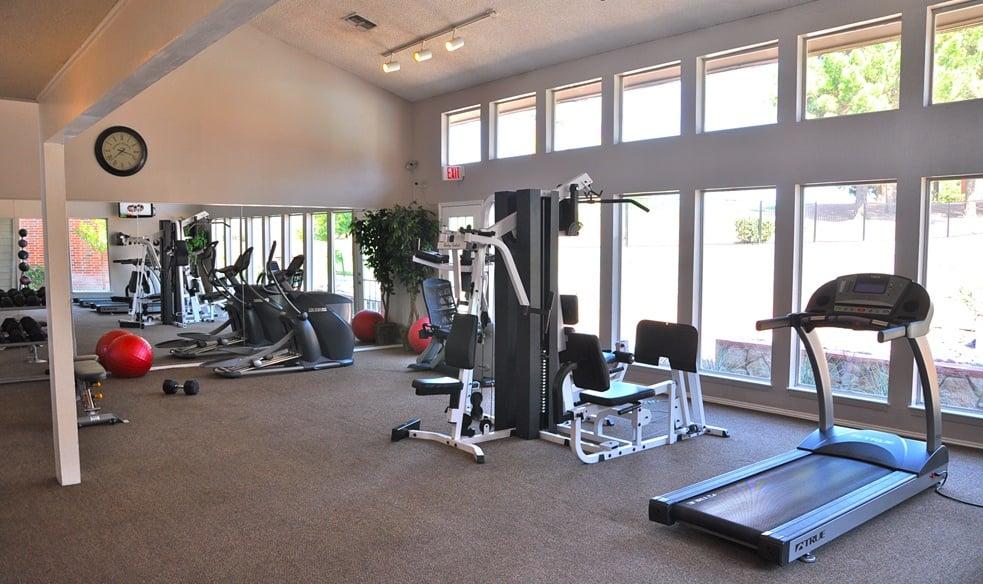 Gym at El Paso apartments