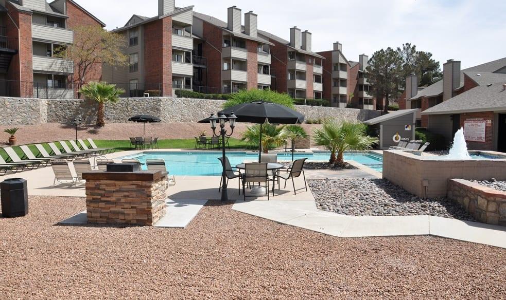 Pool at El Paso apartment complex