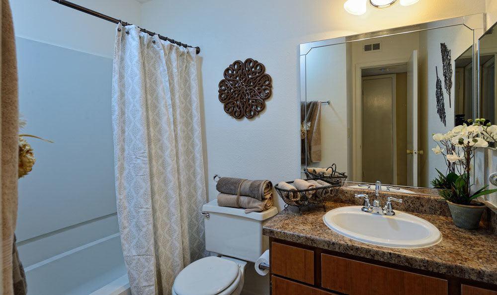 Spacoius bathroom area in our El Paso apartments