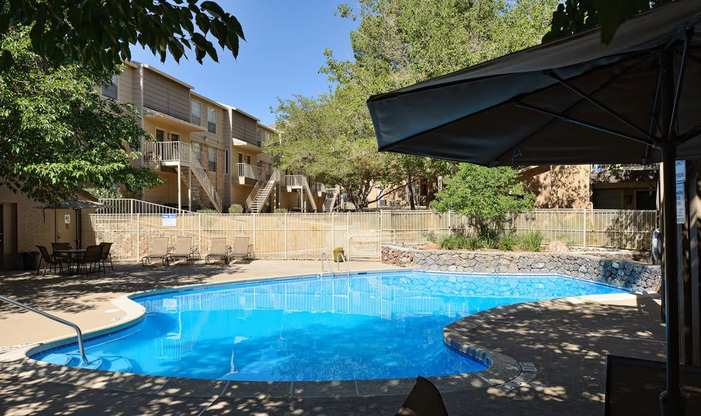 Sparkling pool at our El Paso apartments