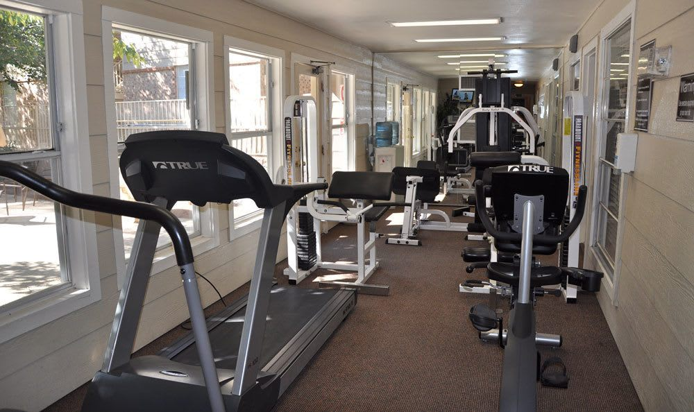 Full gym at our apartments in El Paso