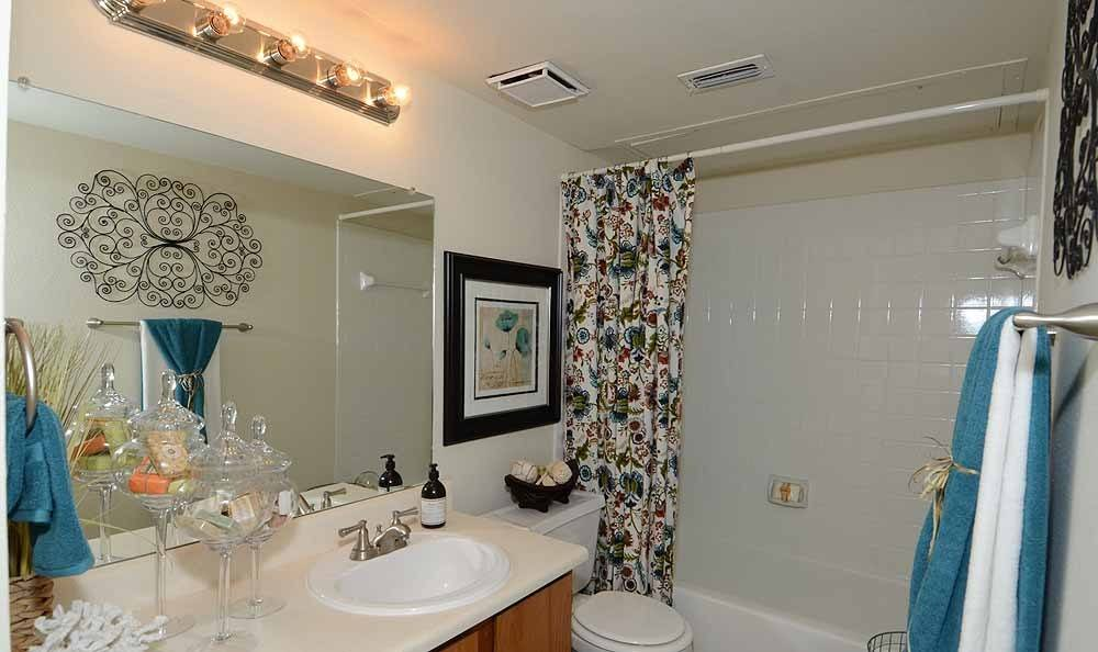 Bathroom at Newport Apartments