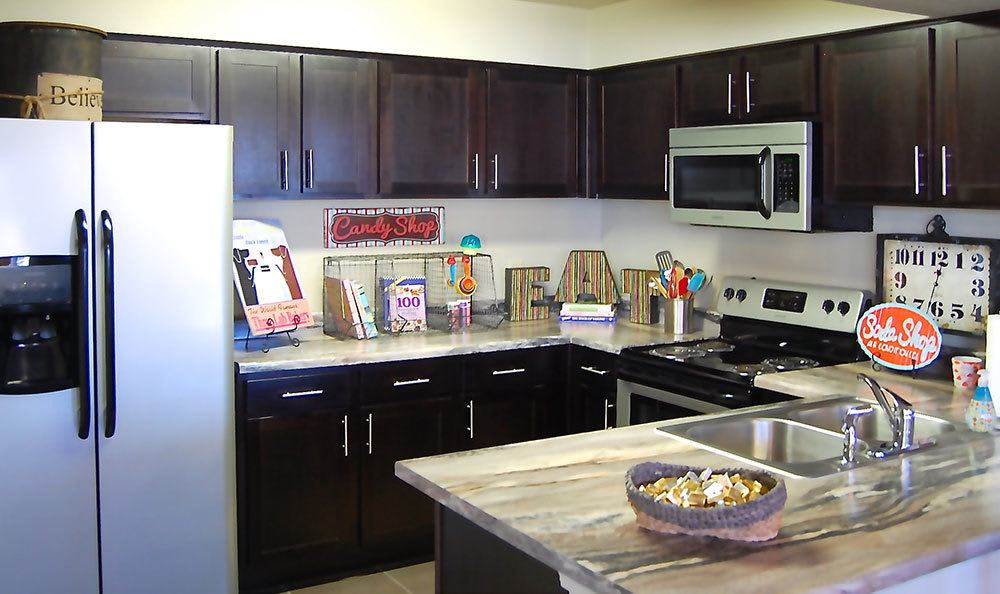 Clean kitchen at apartment in Amarillo, TX