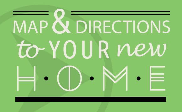 Map and directions graphic for amarillo apartments