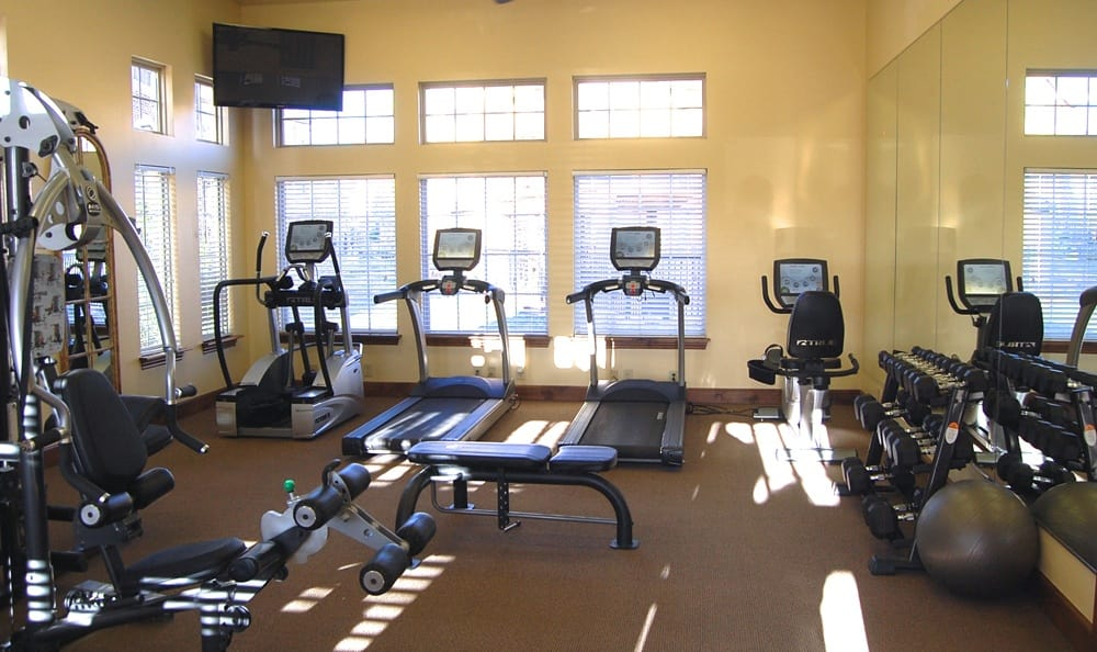 fitness facility at Park at Coulter in Amarillo