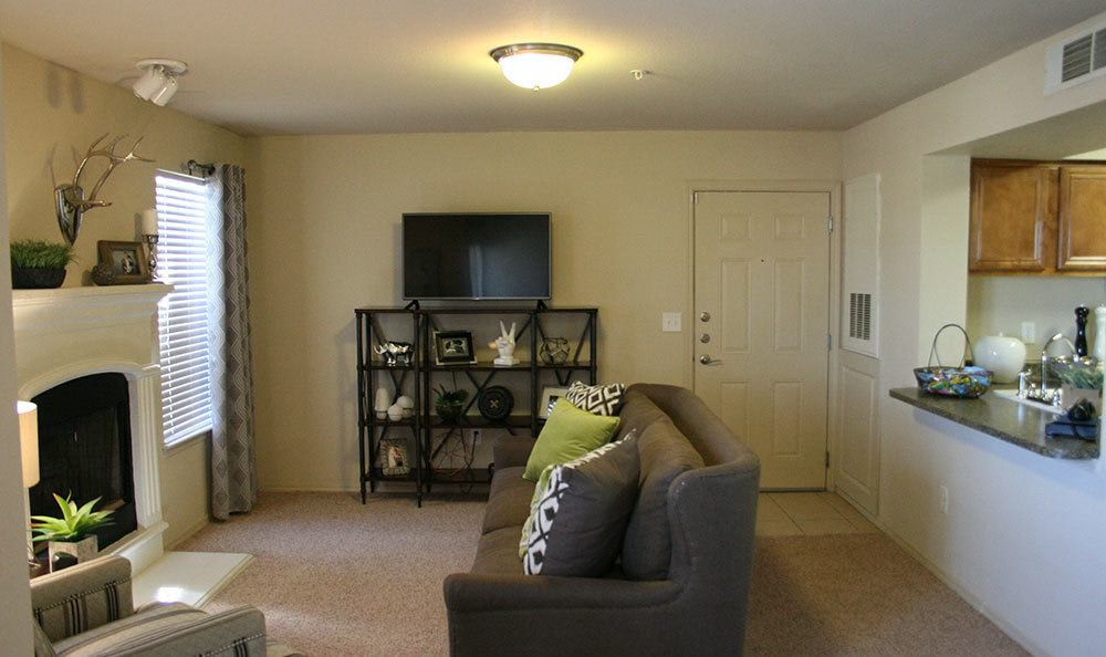 Fireplace at Amarillo apartments