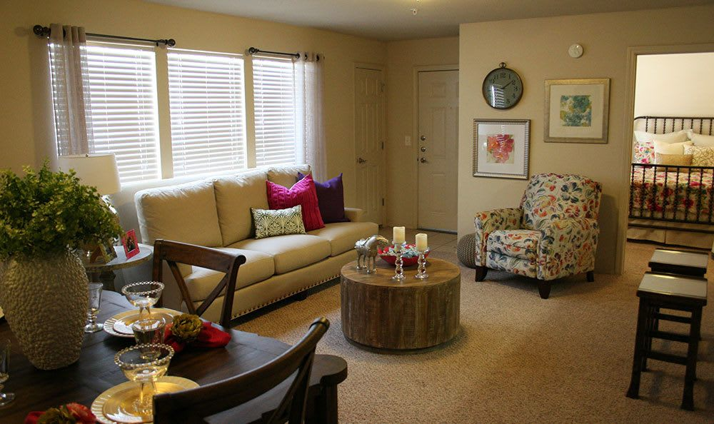 Amarillo apartments with a bright living room