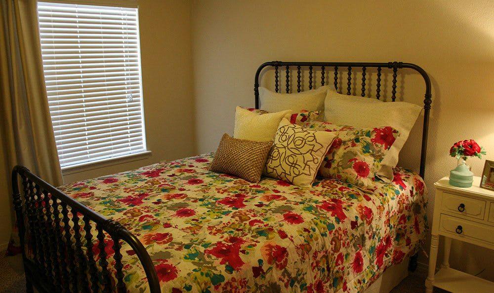 Bedroom at amarillo apartments