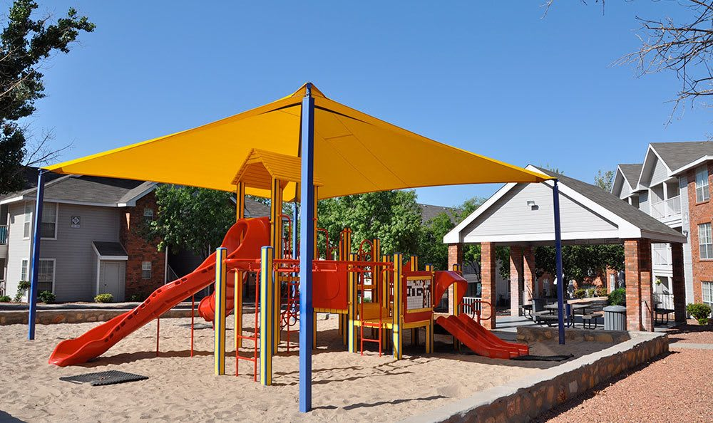 Play structure at apartments in El Paso