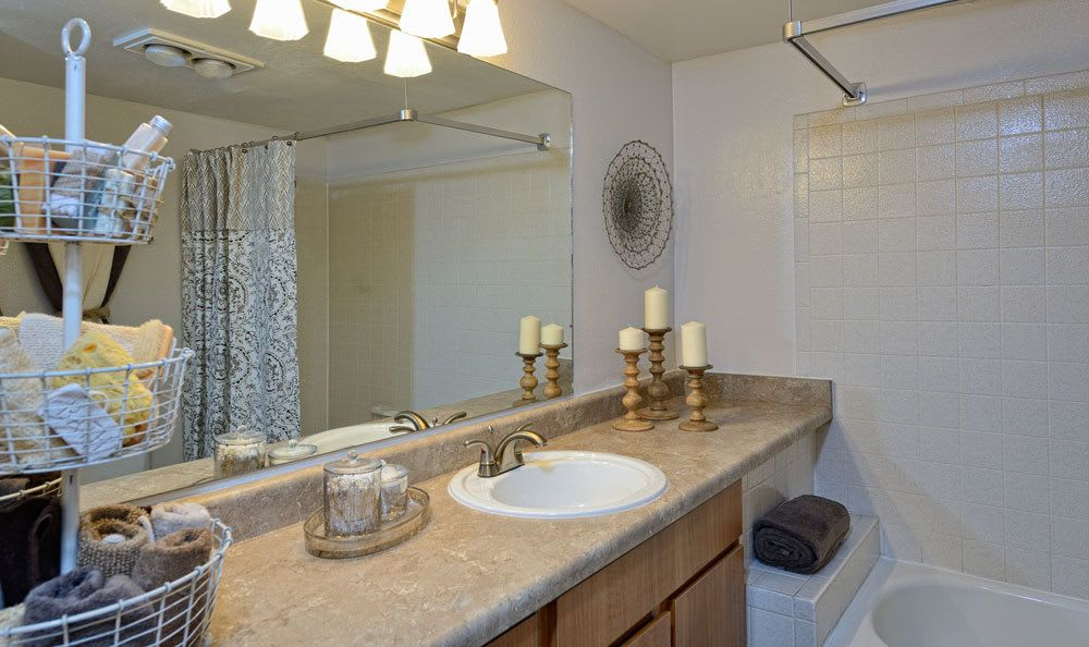 Spacious bathroom in our El Paso apartments
