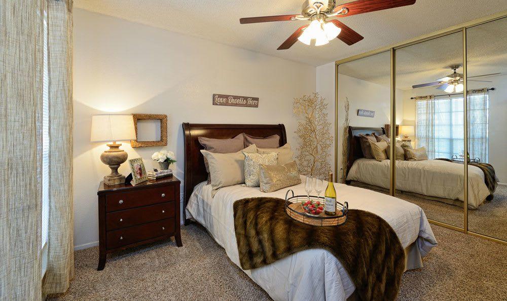 Spacious bedroom in our apartments in El Paso