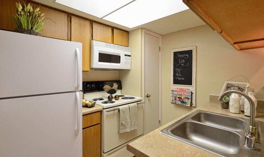Bright kitchen at El Paso apartments