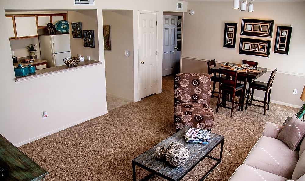 Living room at Winchester Apartments