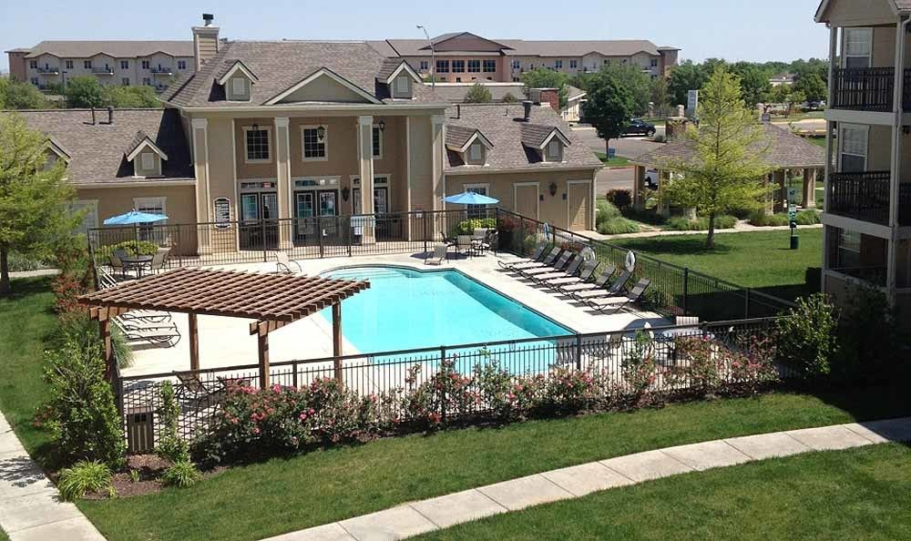 Outdoor pool at Winchester Apartments in Amarillo
