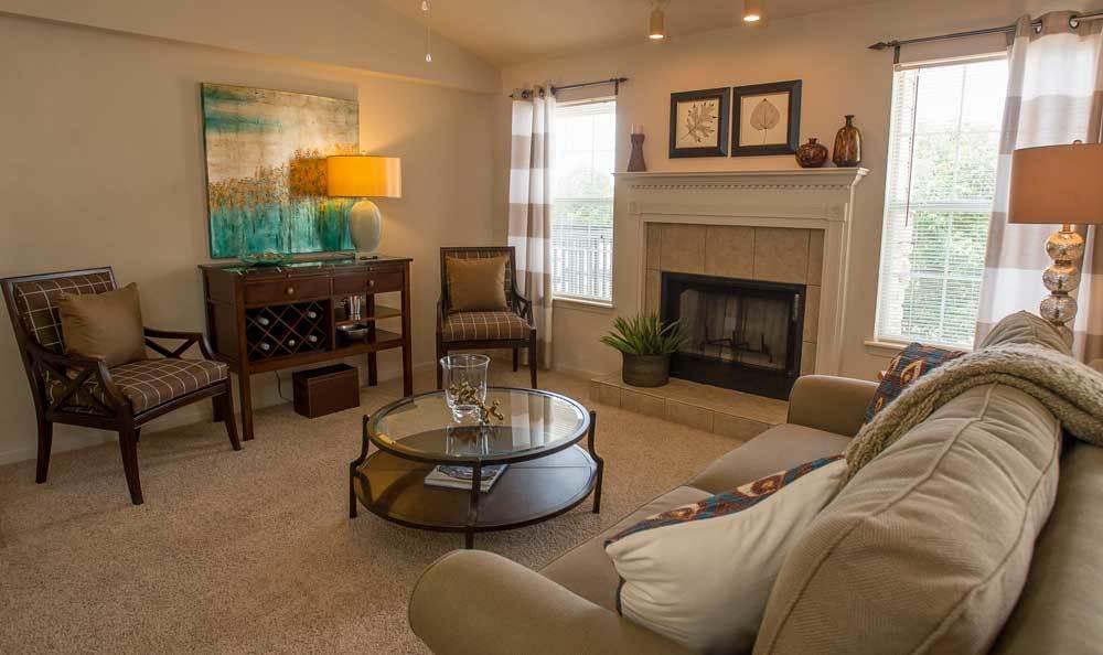 Living spaces at Villas at Stonebridge