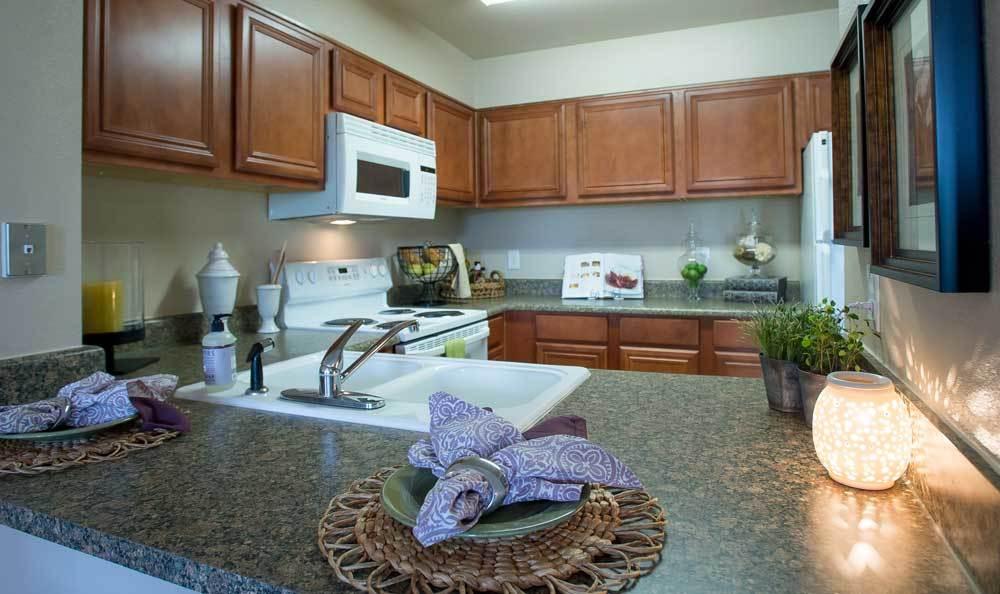 Kitchens at Villas at Stonebridge in Edmond