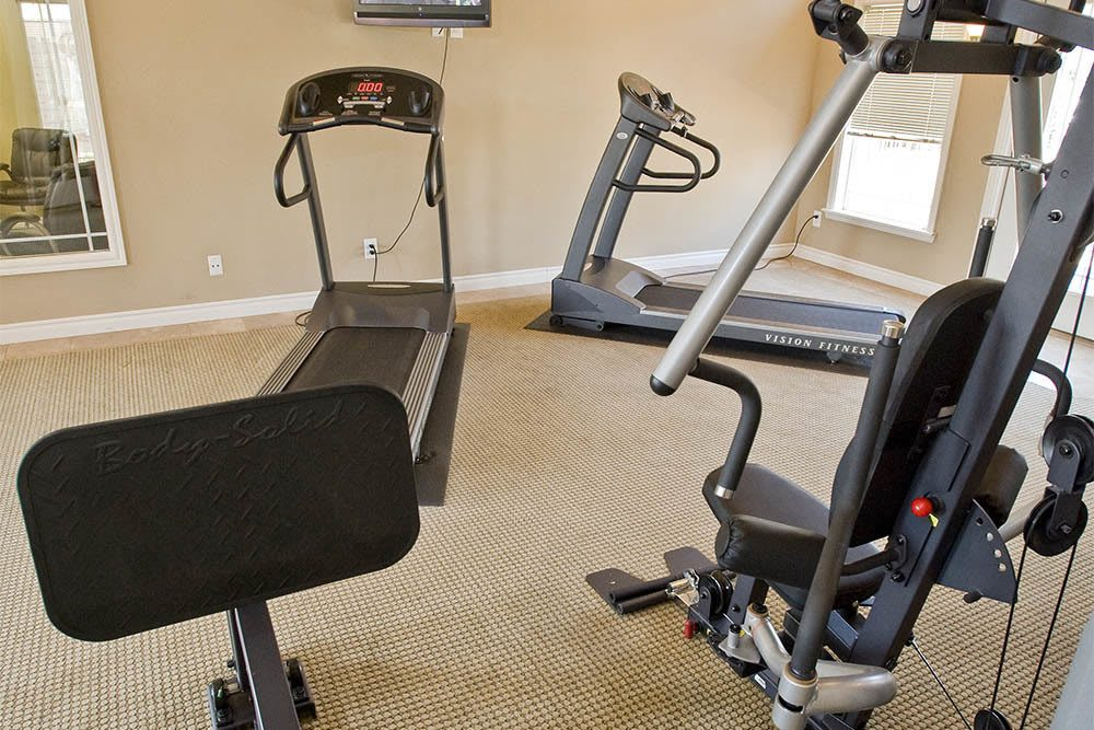 Workout in our well equipped fitness center in Edmond, OK
