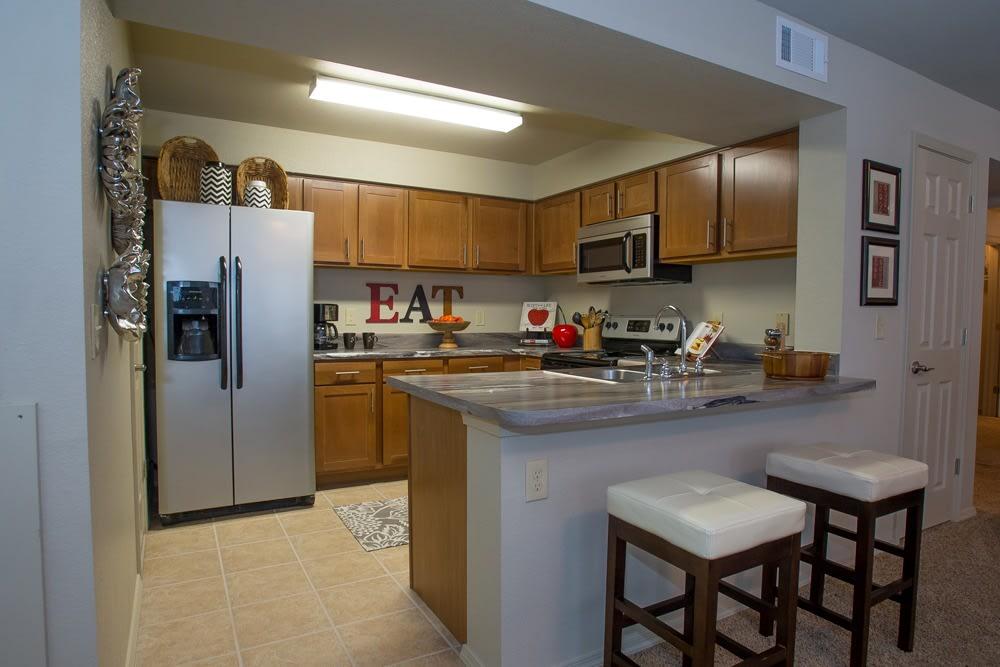 Kitchen at Tuscana Bay Apartments