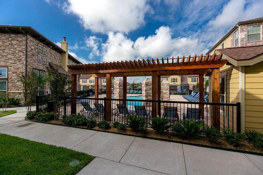 Arbor near the pool at Tuscana bay Apartments