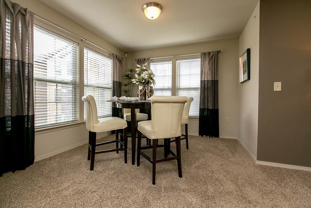 Enjoy dining in your new home at Tuscana Bay Apartments