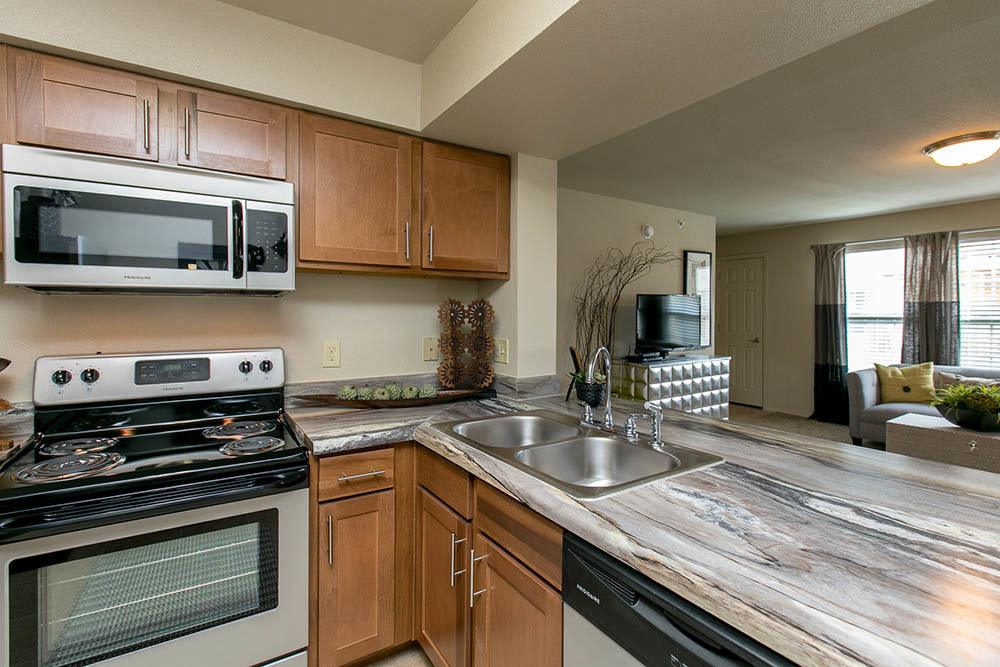 Well appointed kitchens at our Corpus Christi apartment community