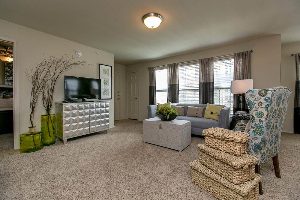 Spacious living room at Tuscana Bay Apartments