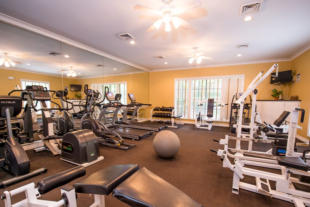 Living at Arbors of Pleasant Valley includes a gym!