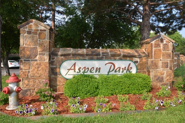 Signage at Aspen Park Apartments, Wichita
