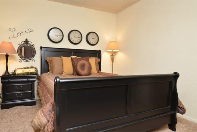Master bedroom at Aspen Park Apartments in Wichita, KS