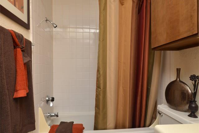 Bathroom at Aspen Park Apartments in Wichita, KS
