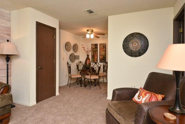 Living room at Aspen Park Apartments