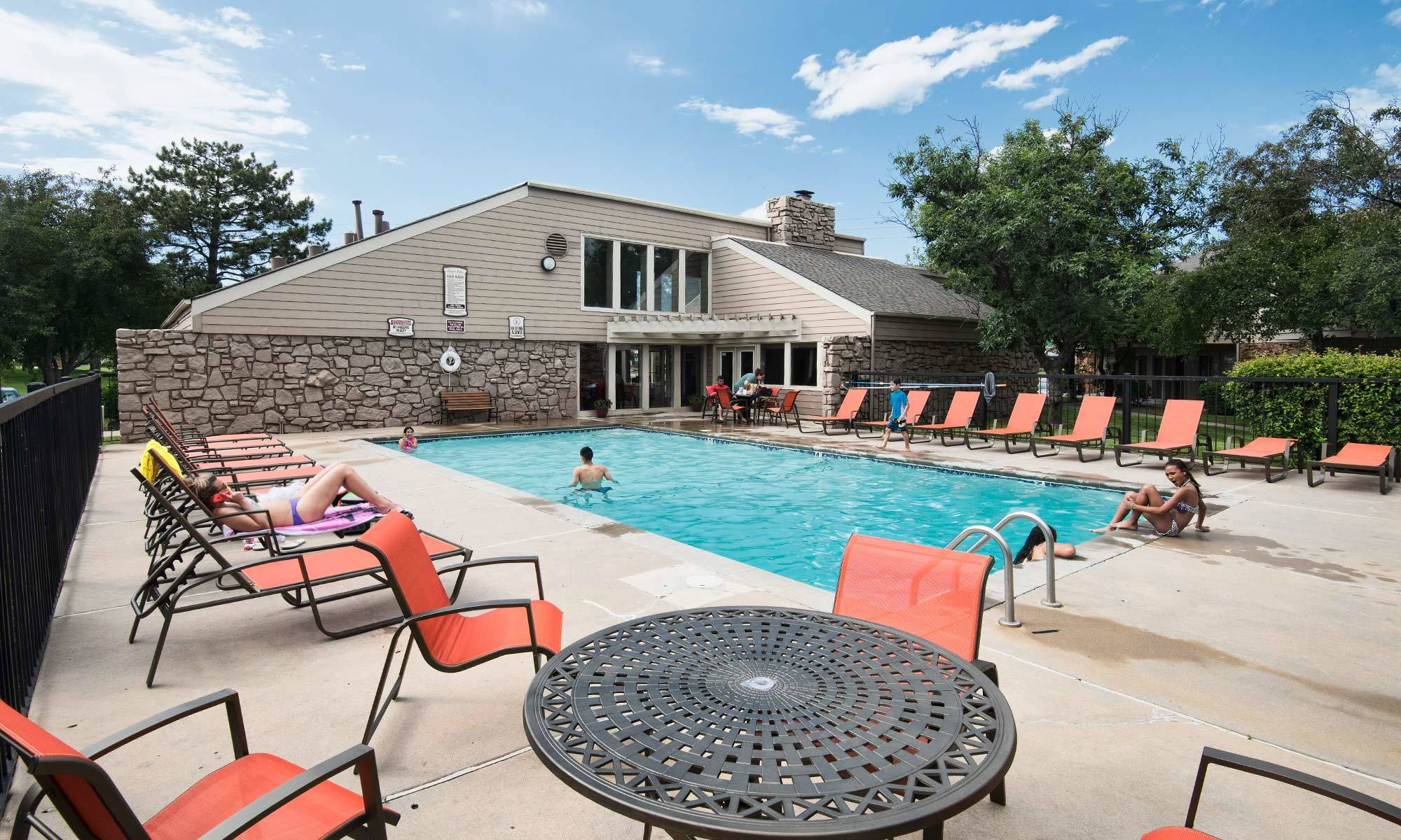 Aspen Park Apartments Wichita Swimming Pool Amenities