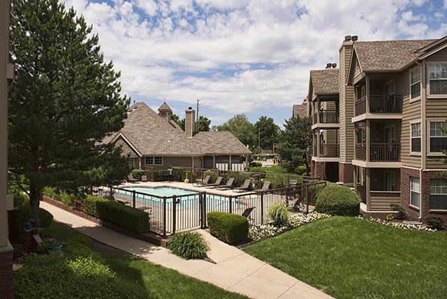 Swimming pool at Crown Chase Apartments in Wichita, KS