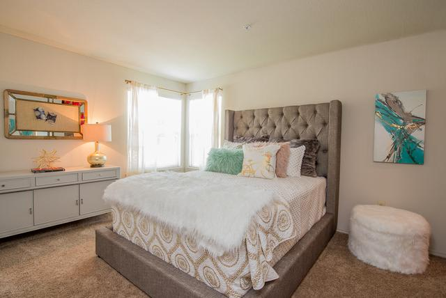 Beautiful bedroom at Crown Chase Apartments in Wichita, KS
