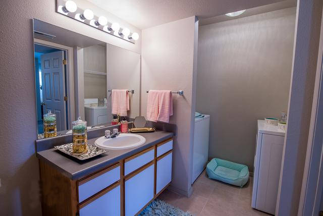 Laundry room at Crown Chase Apartments in Wichita, KS