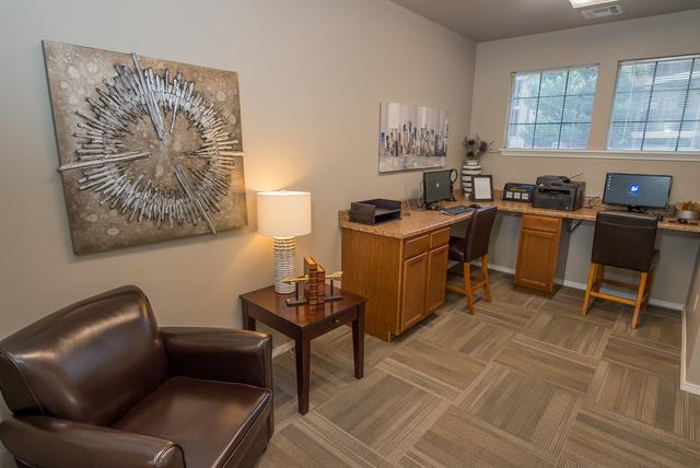 Business center at Crown Chase Apartments in Wichita, KS