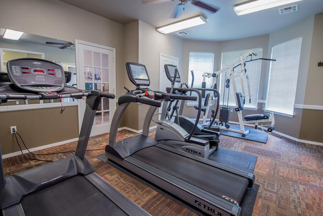 Keep in shape at our fitness center at Crown Chase Apartments in Wichita, KS