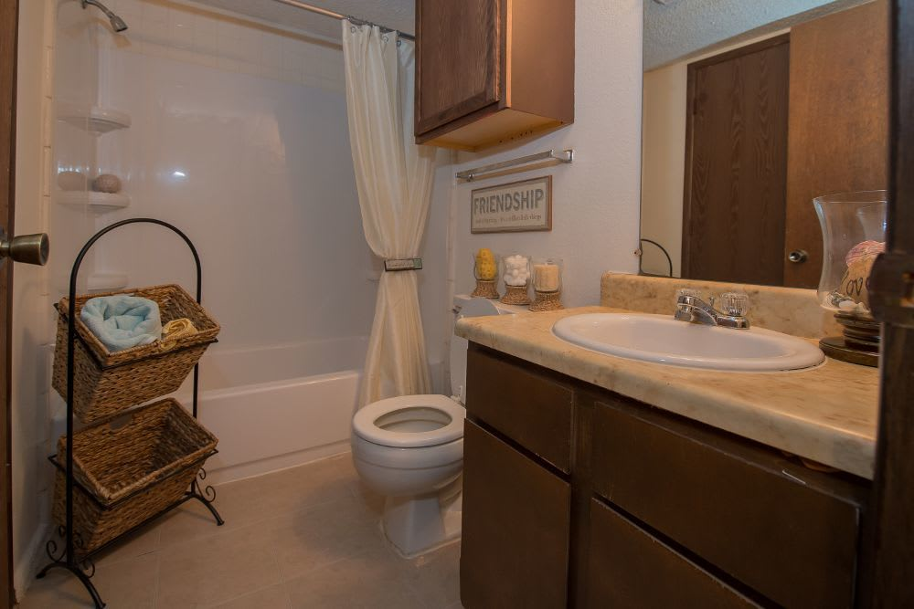 Bathroom at Fox Run Apartments
