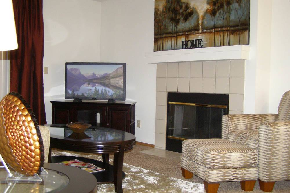 Our apartments in Wichita feature fireplaces