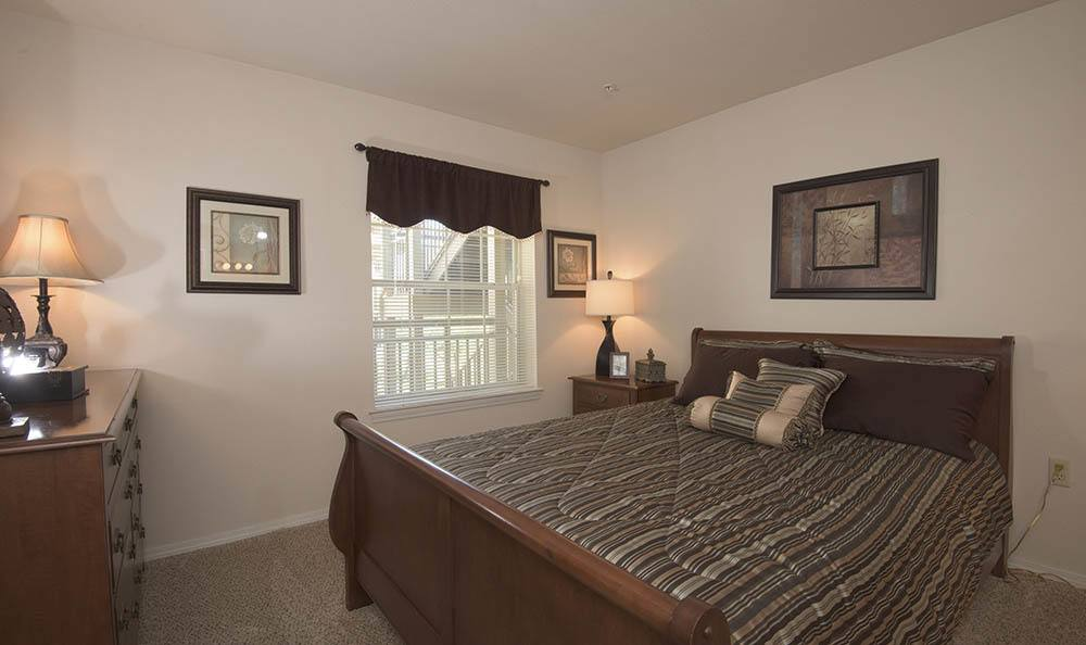 Cozy bedroom at apartments in Wichita