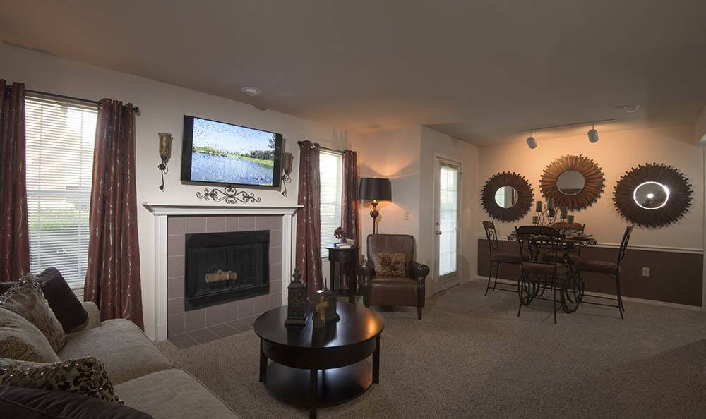 Newport Wichita apartments have a fireplace