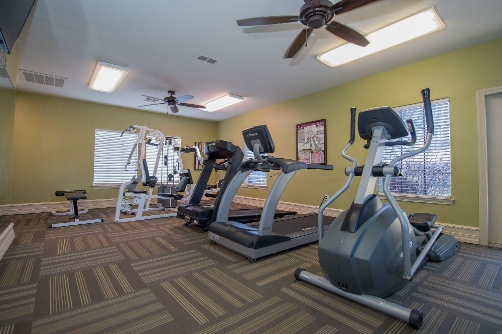 Fitness center at Newport Wichita