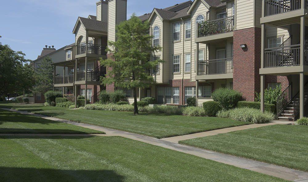 Lawn at Newport Apartments in Wichita