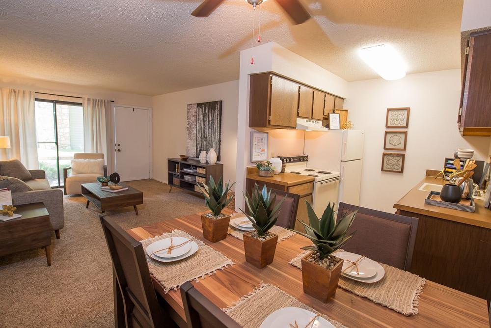 Beautiful living room at apartments in Wichita, Kansas