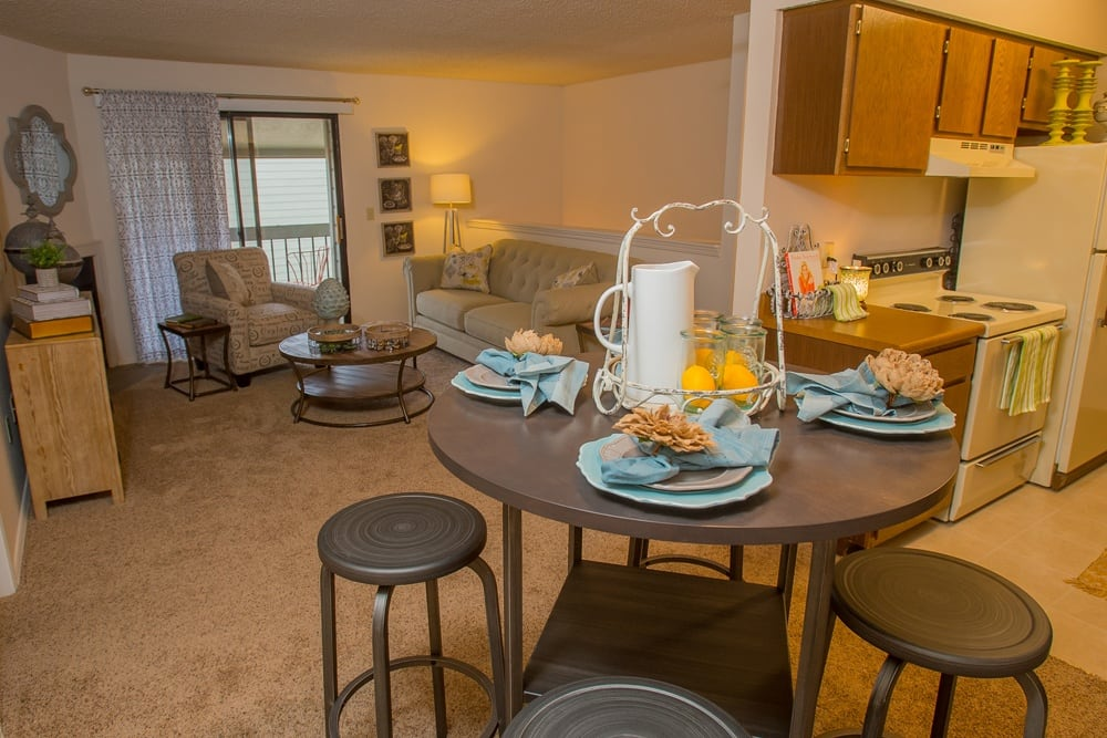 Our apartments in Wichita, Kansas showcase a beautiful living room