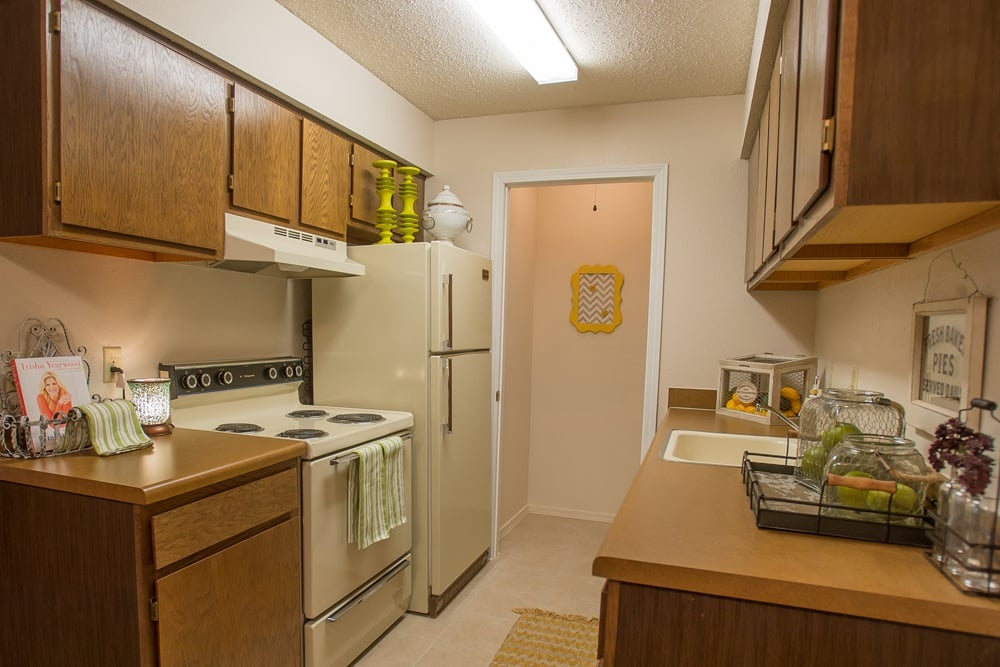 Quiet kitchen at apartments in Wichita, Kansas