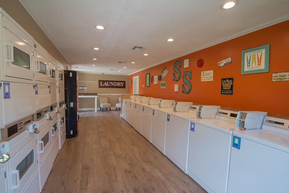 Spacious laundry facility at apartments in Wichita, Kansas